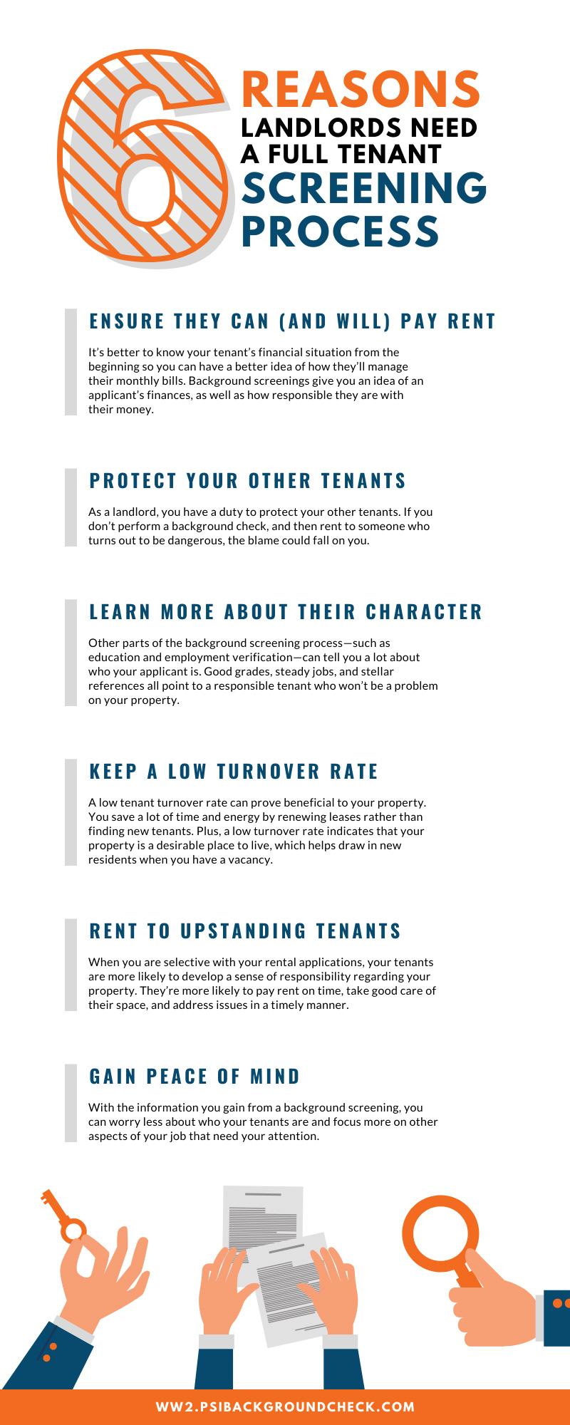 6 Reasons Landlords Need a Full Tenant Screening Process
