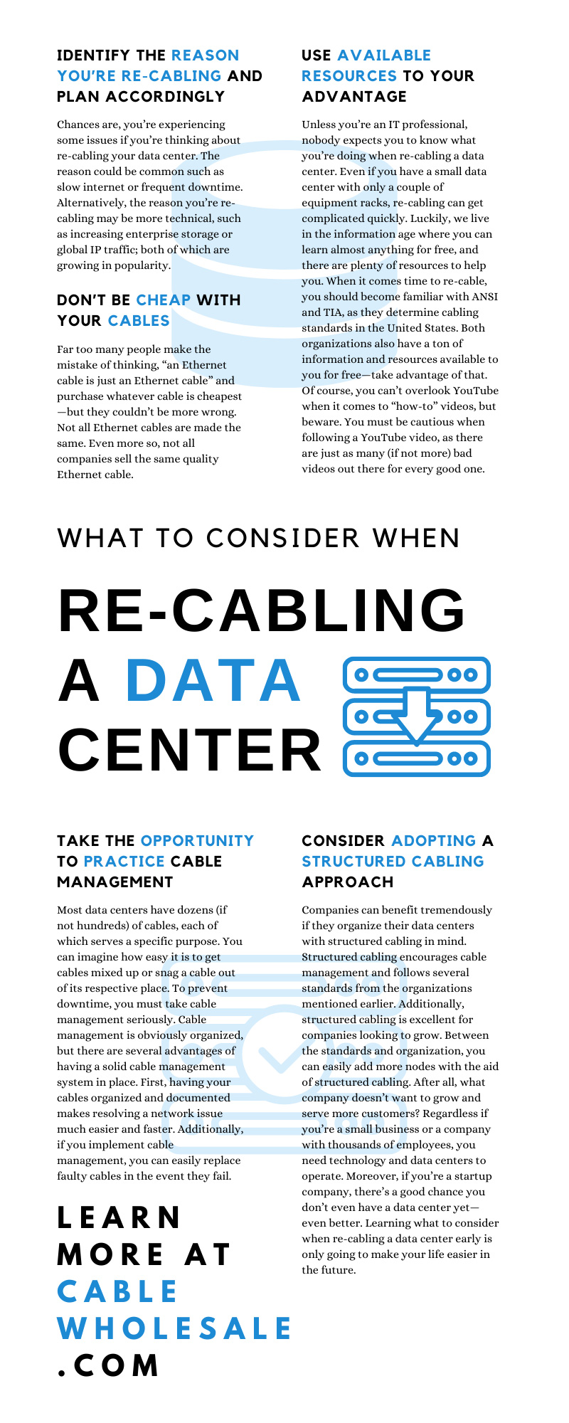 What To Consider When Re-Cabling a Data Center