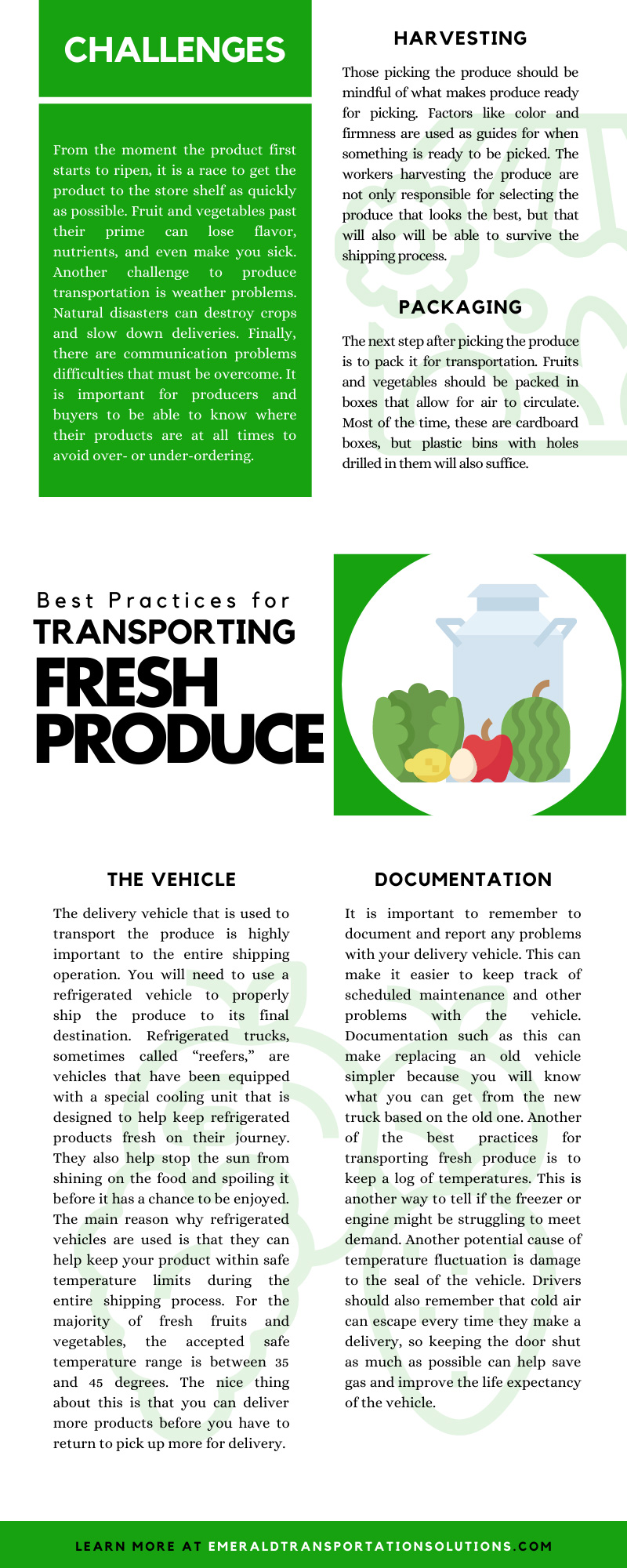 Best Practices for Transporting Fresh Produce