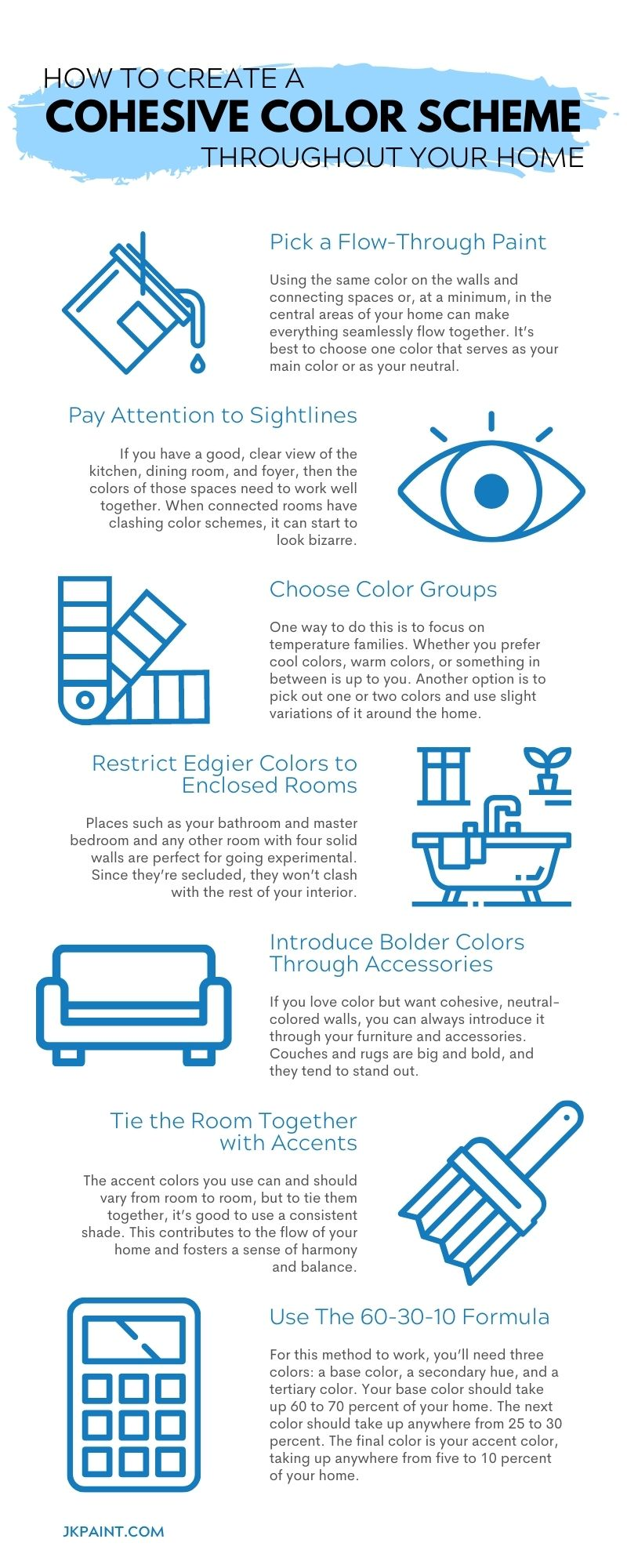 How To Create a Cohesive Color Scheme Throughout Your Home
