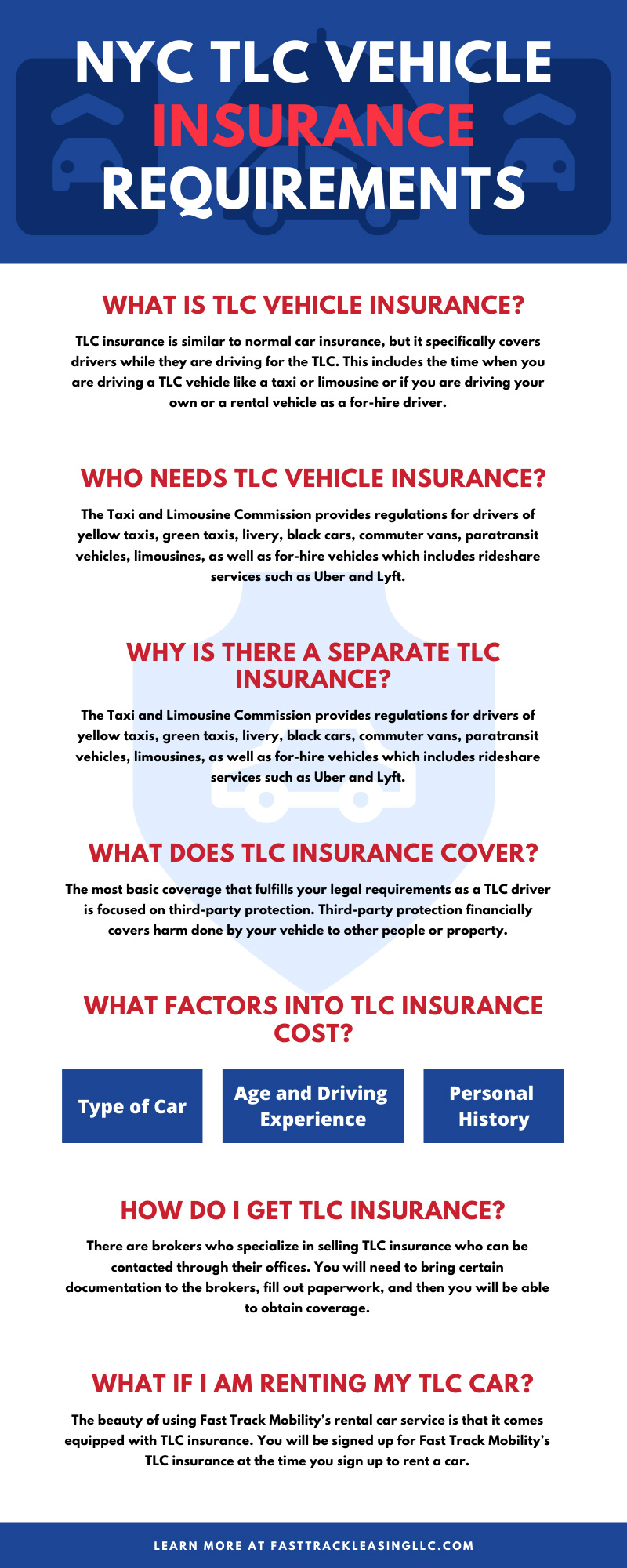 NYC TLC Vehicle Insurance Requirements