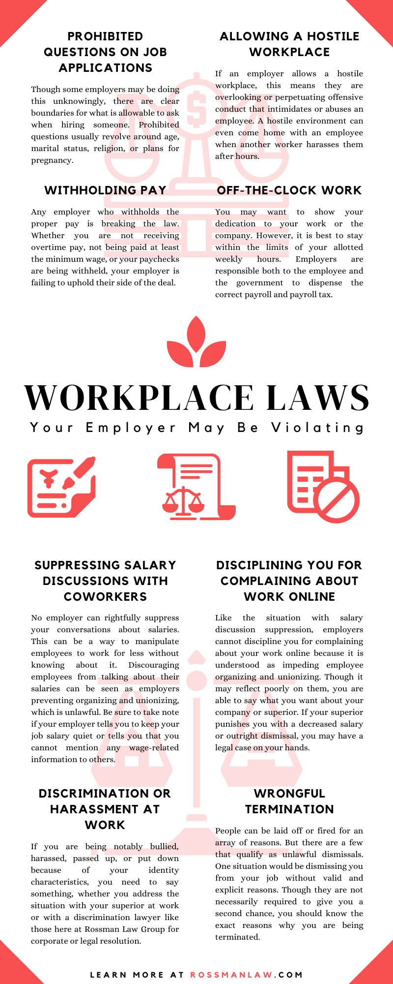 Workplace Laws Your Employer May Be Violating