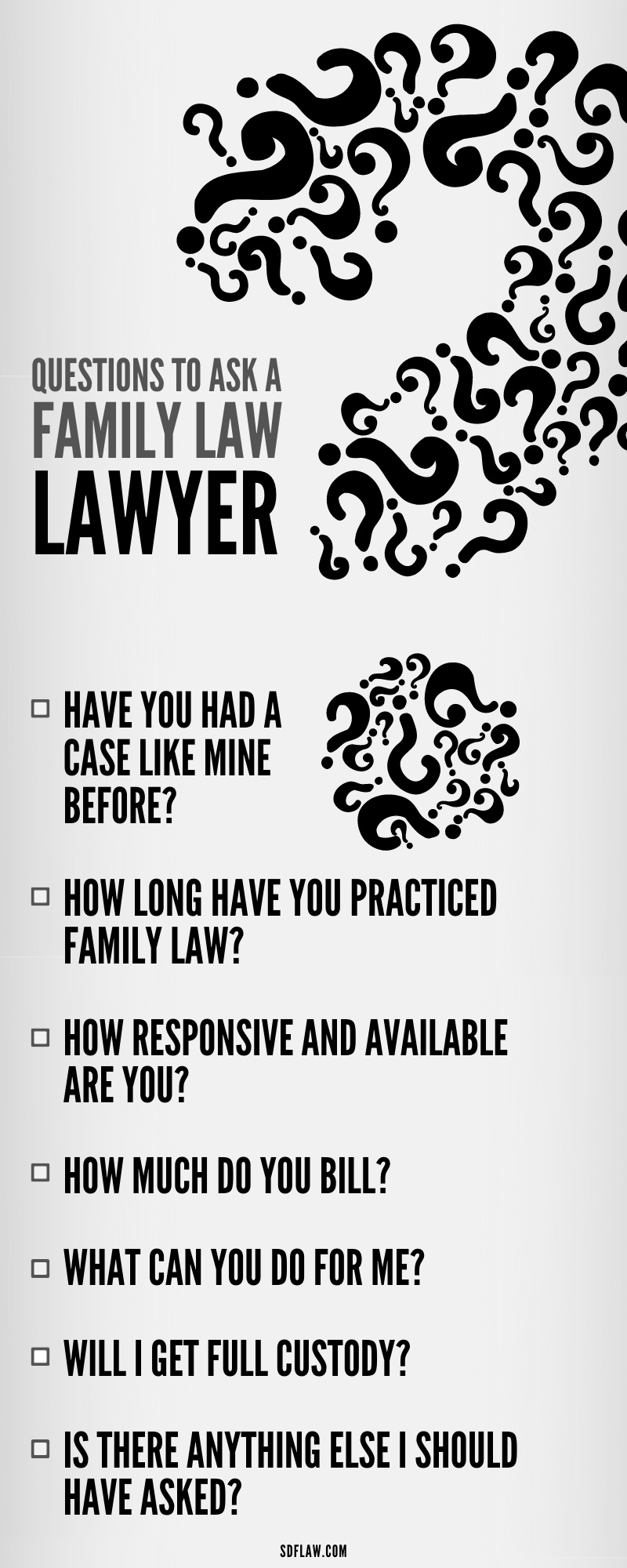 Questions To Ask a Family Law Lawyer