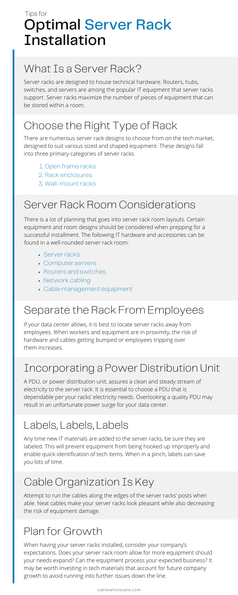 Tips for Optimal Server Rack Installation