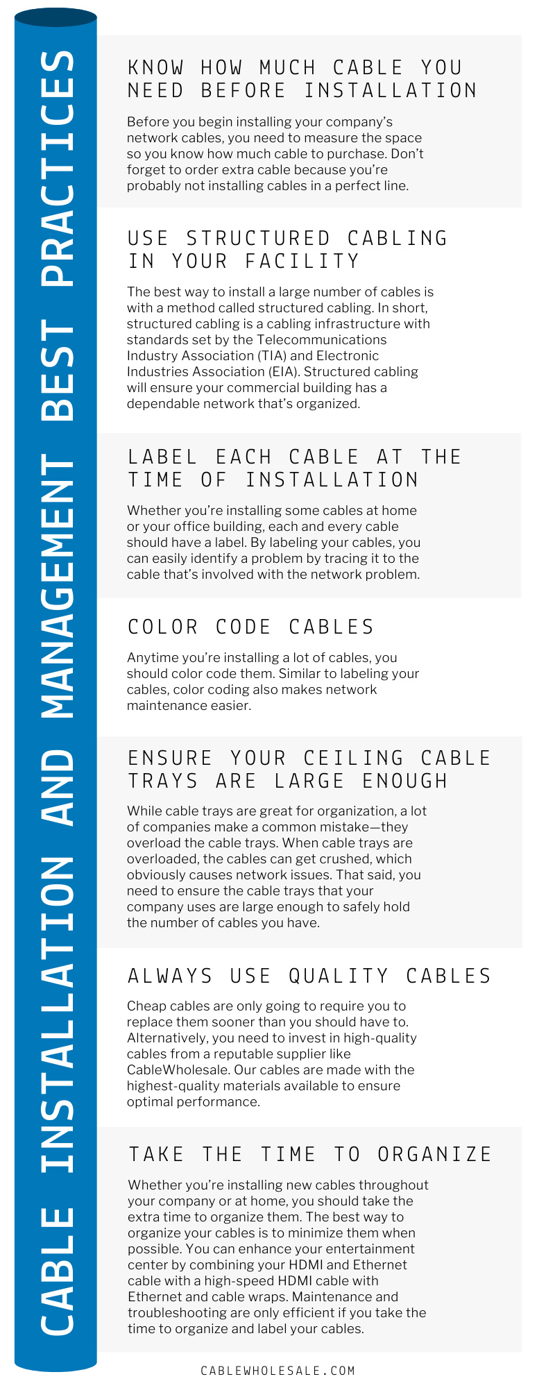 Cable Installation and Management Best Practices