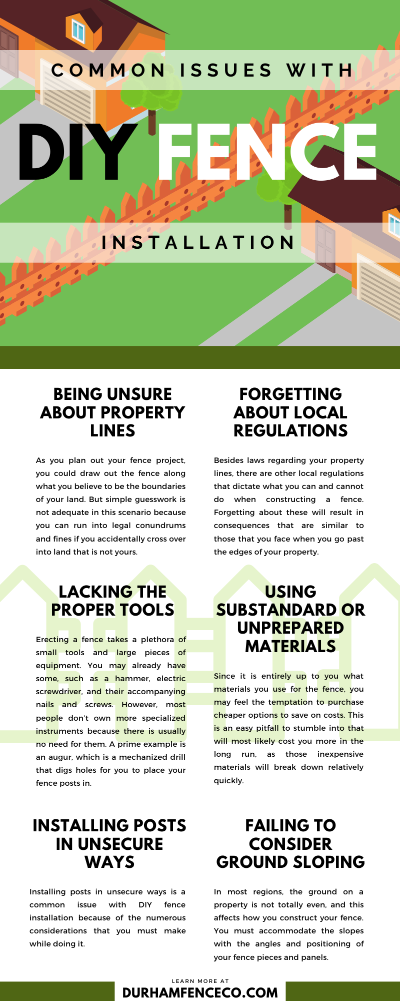 Common Issues With DIY Fence Installation