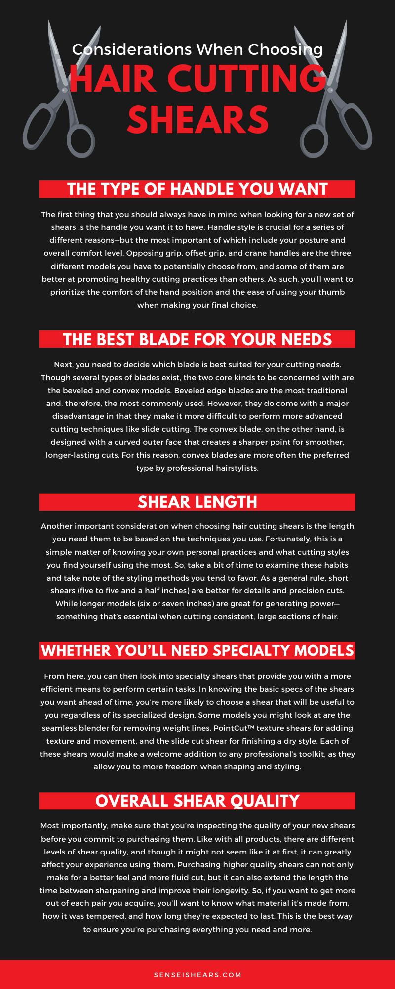 Considerations When Choosing Hair Cutting Shears