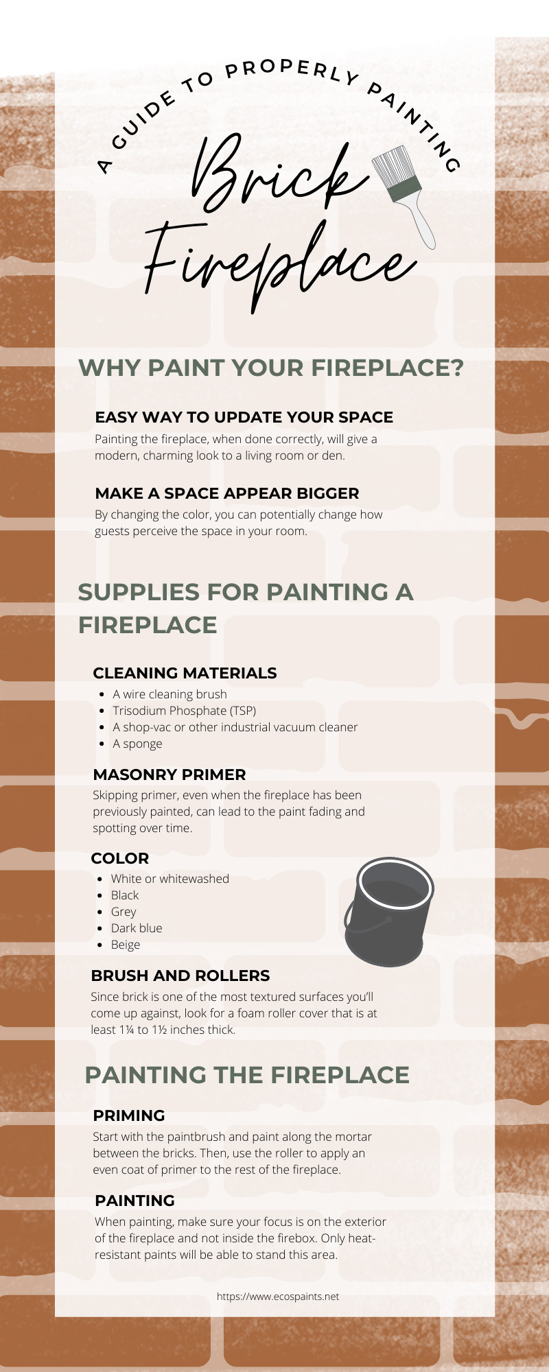 A Guide To Properly Painting a Brick Fireplace