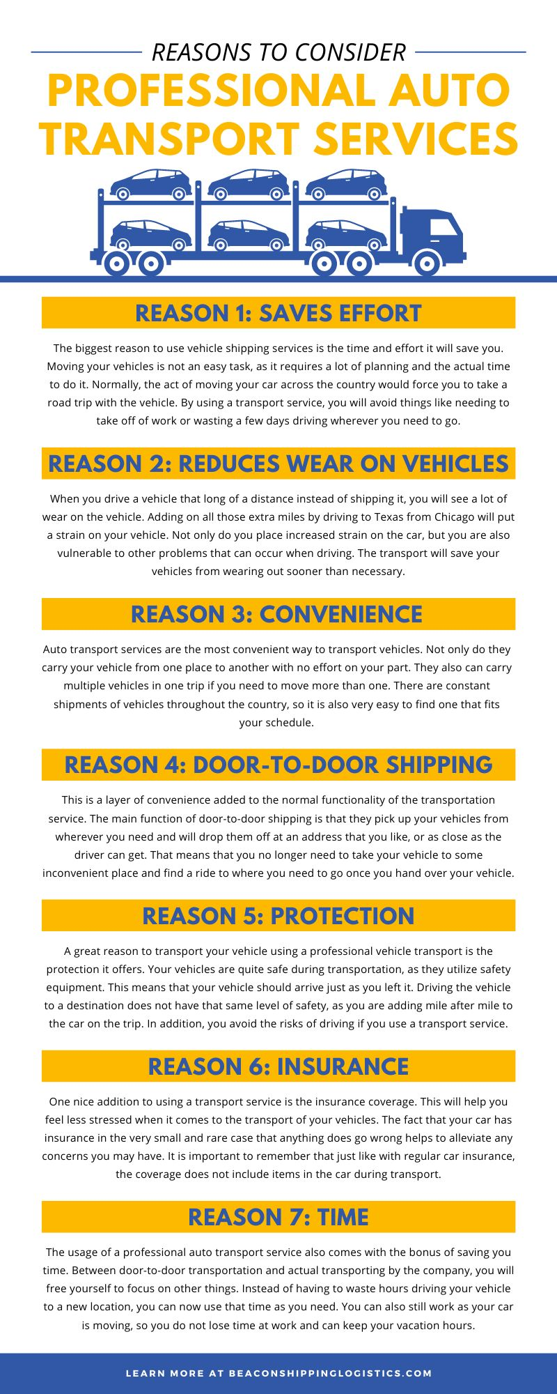 Reasons To Consider Professional Auto Transport Services