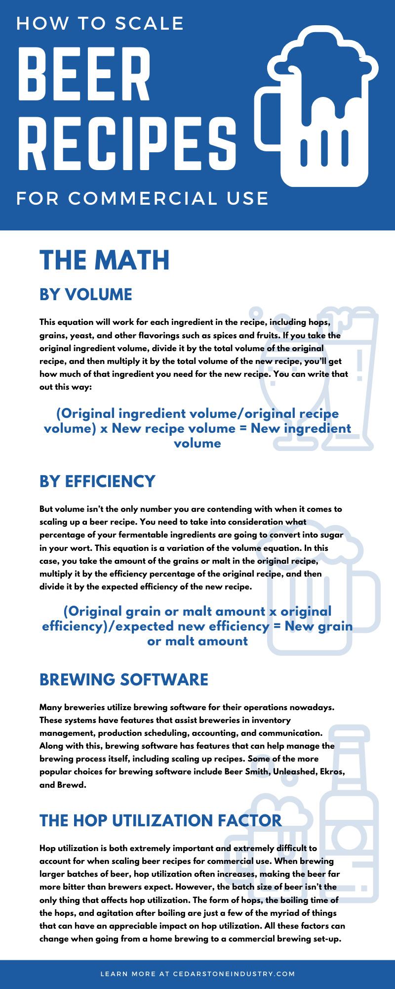 How To Scale Beer Recipes for Commercial Use
