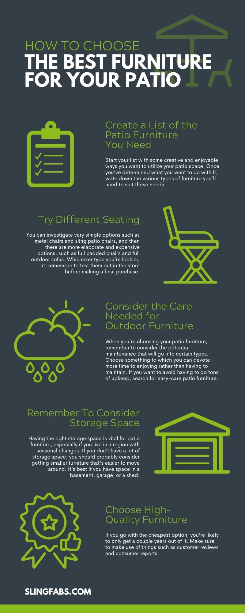 How To Choose the Best Furniture for Your Patio