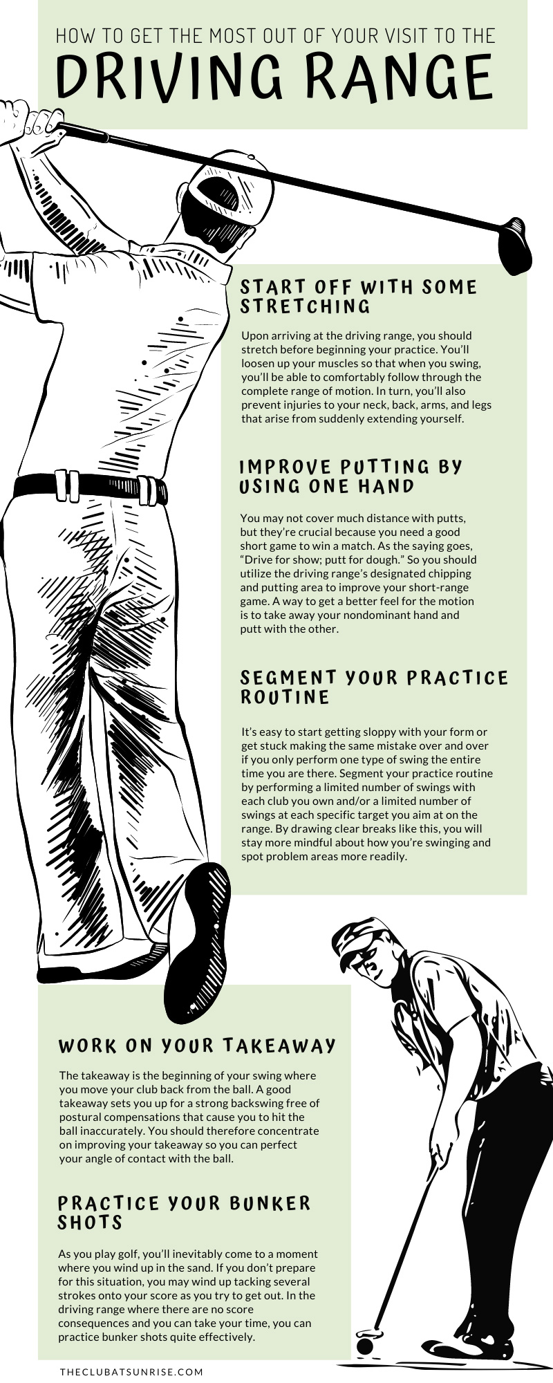 How to Get the Most Out of Your Visit to the Driving Range Infographic