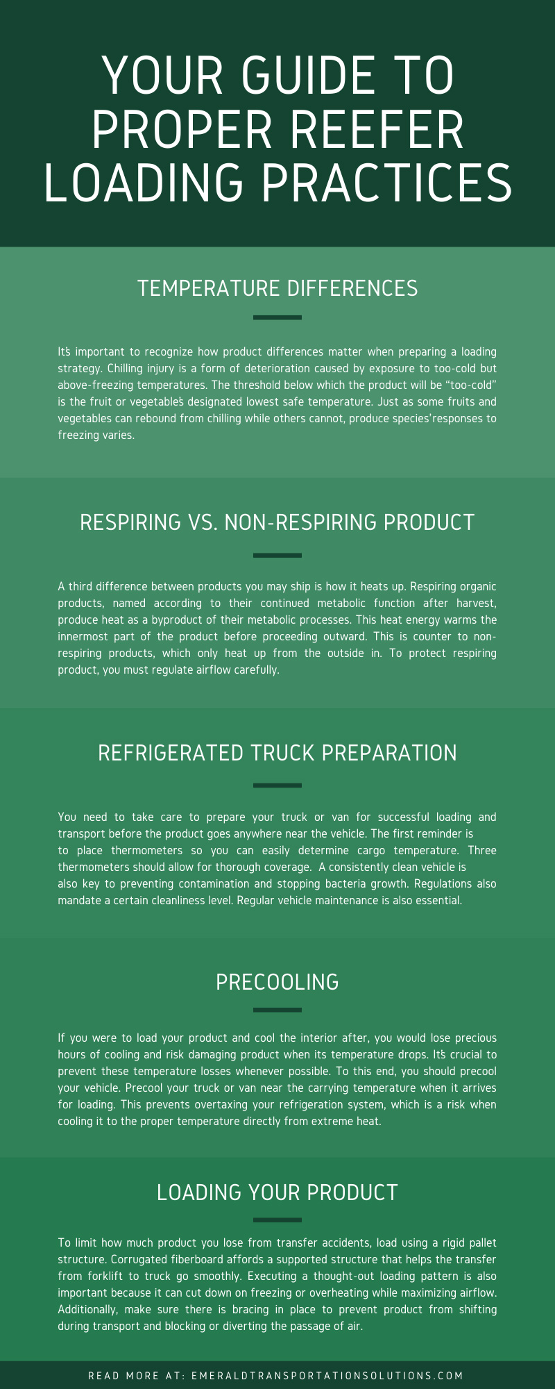 Your Guide to Proper Reefer Loading Practices