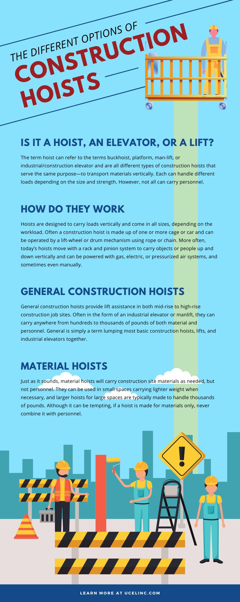 The Different Types of Construction Hoists