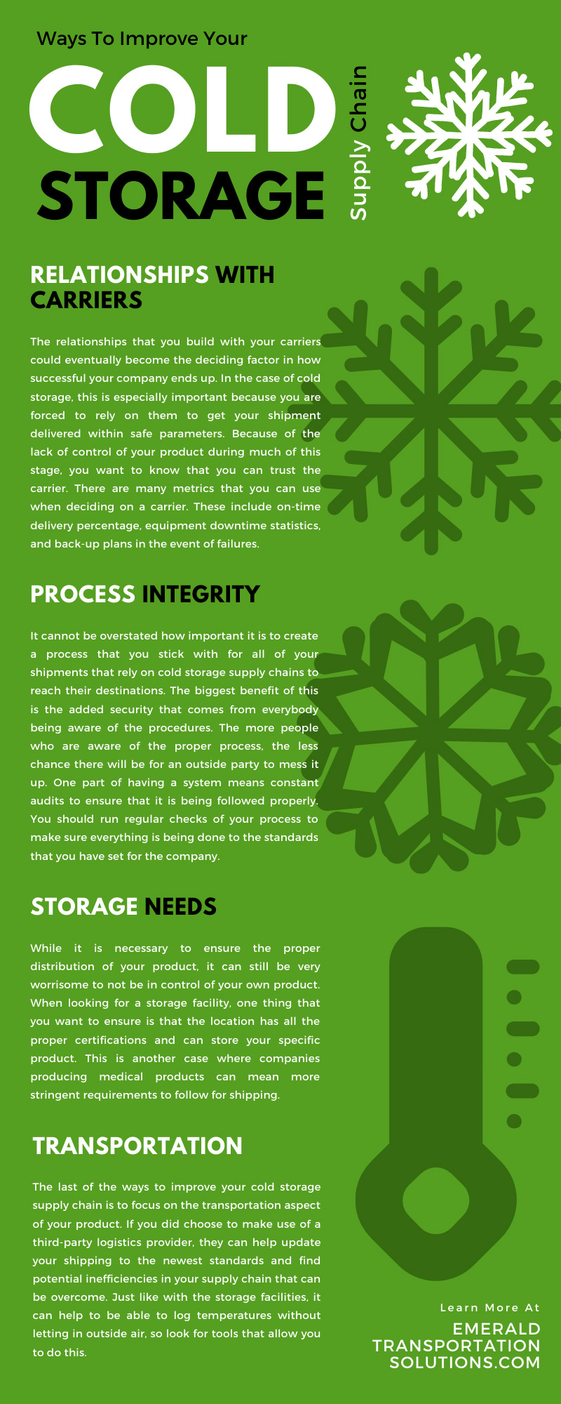Ways To Improve Your Cold Storage Supply Chain