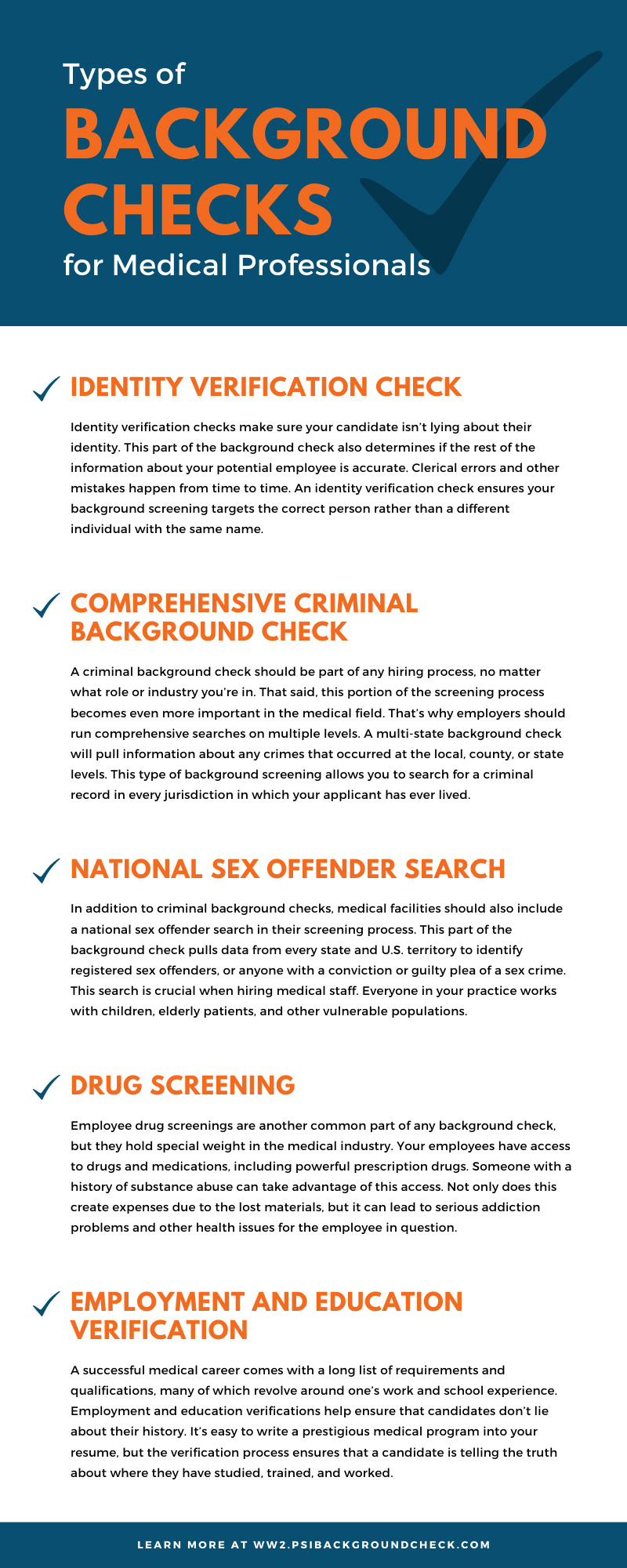 Types of Background Checks for Medical Professionals
