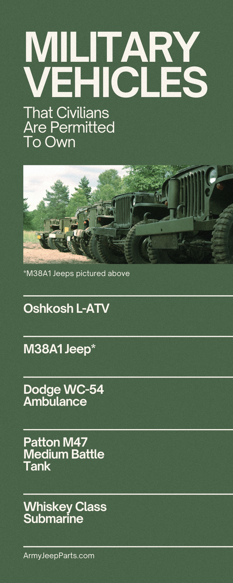Military Vehicles That Civilians Are Permitted To Own