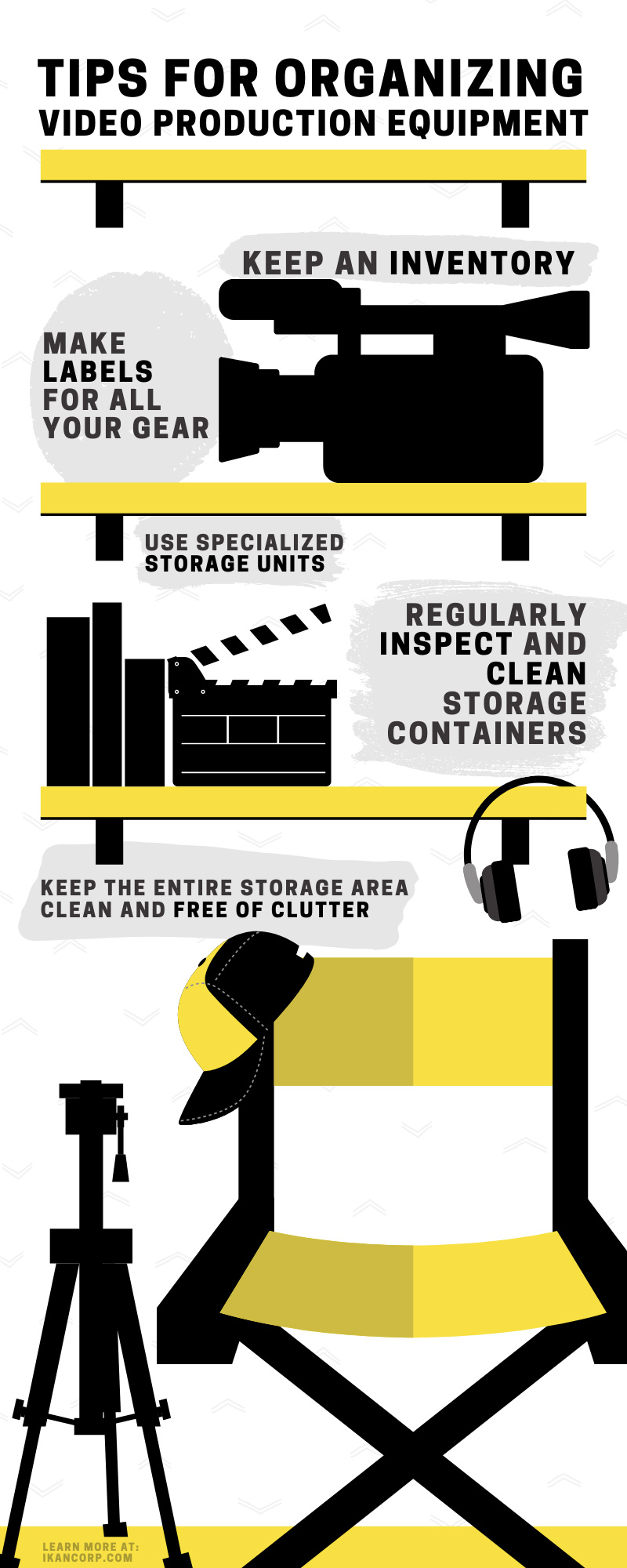 Tips for Organizing Video Production Equipment